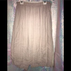 Chico's 💯 linen skirt with small stripes